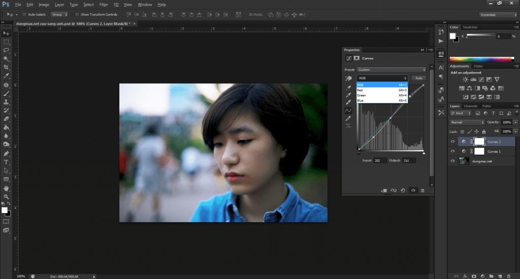 Giao diện của Photoshop CS6